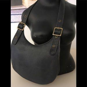 Vintage Blue Leather Purse